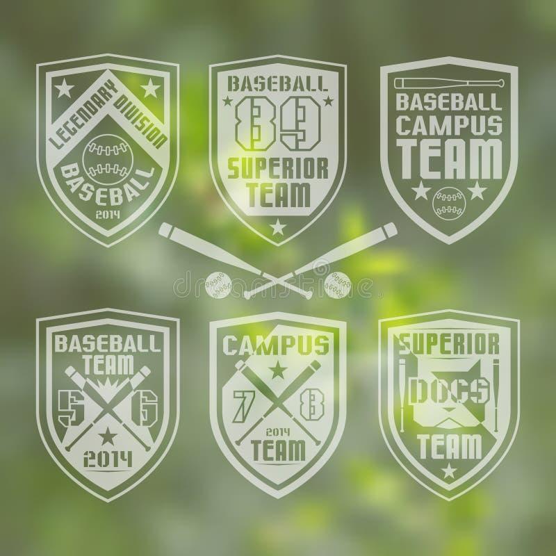 Emblème d'équipe de baseball illustration de vecteur