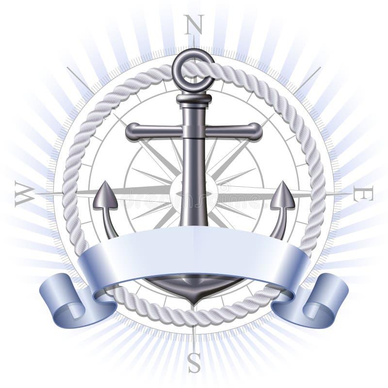 Emblème d'ancre, vecteur illustration libre de droits