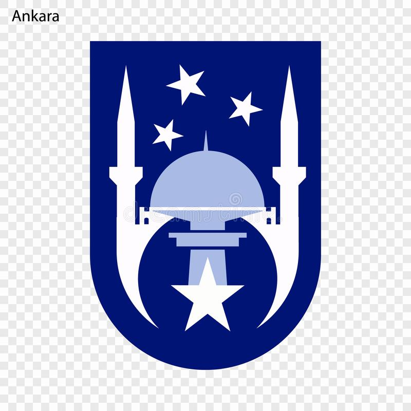 Emblème d'Ankara illustration de vecteur