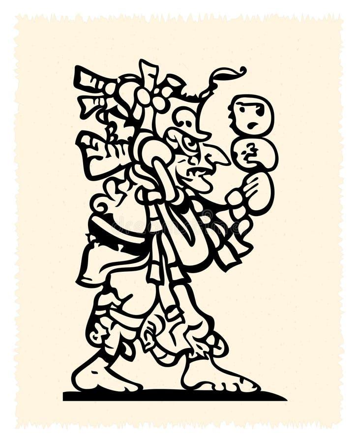 Emblème d'Aztèque et d'Inca illustration stock