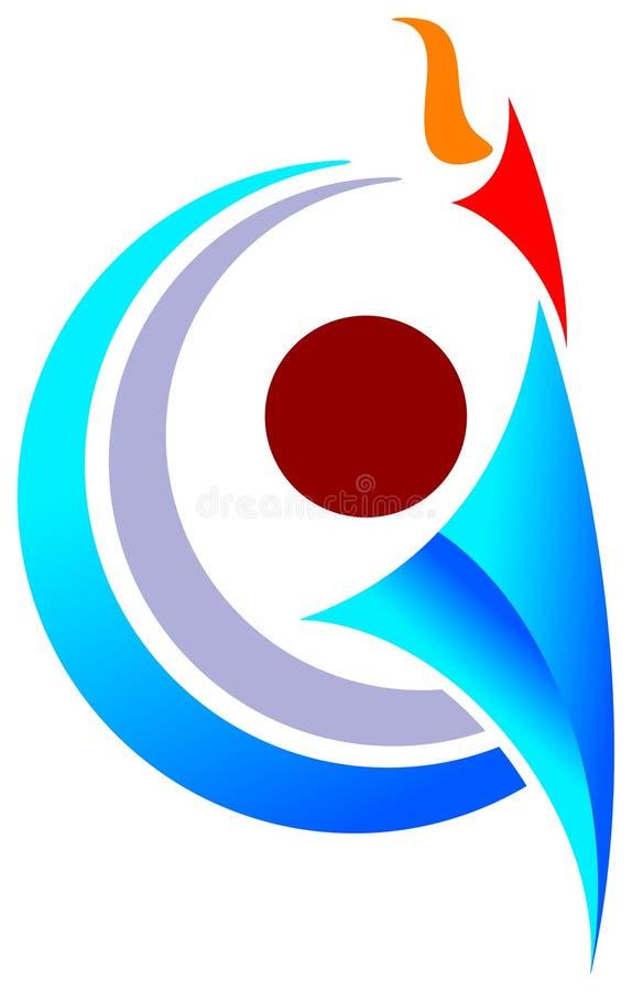 Emblème d'homme de sports illustration stock