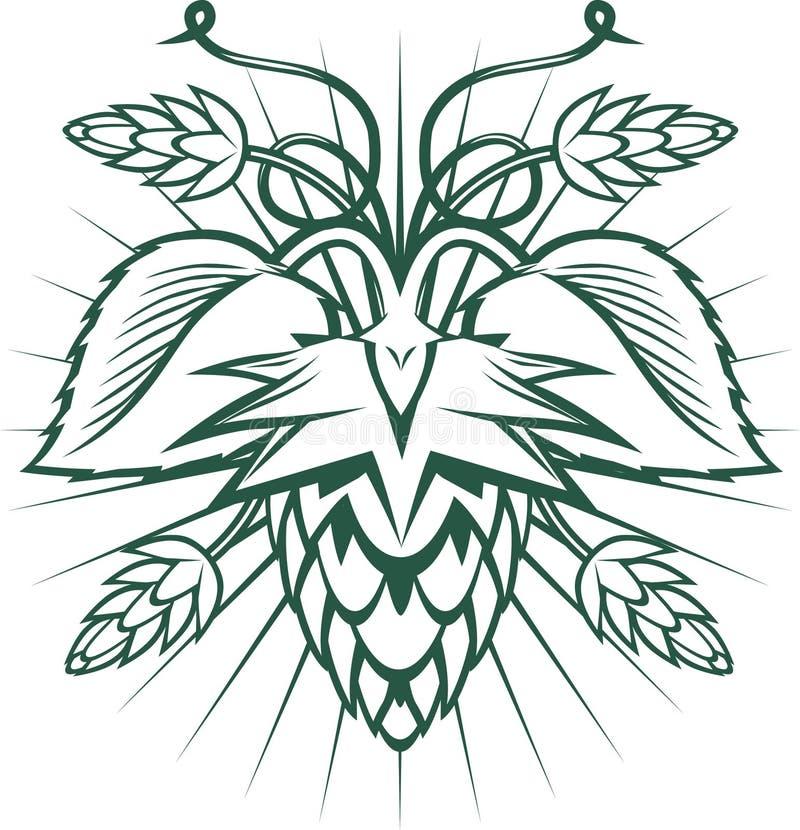 Emblème d'houblon illustration stock