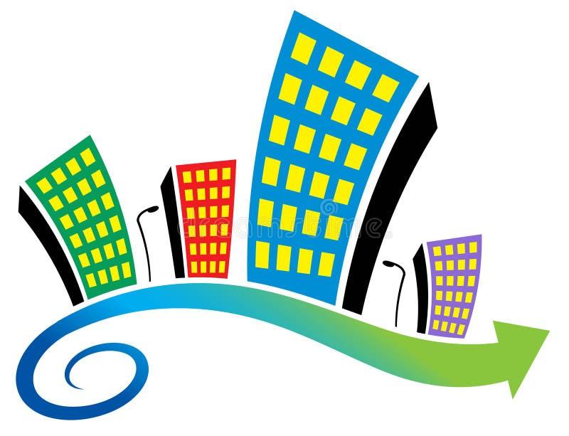 Emblème d'immeubles illustration libre de droits