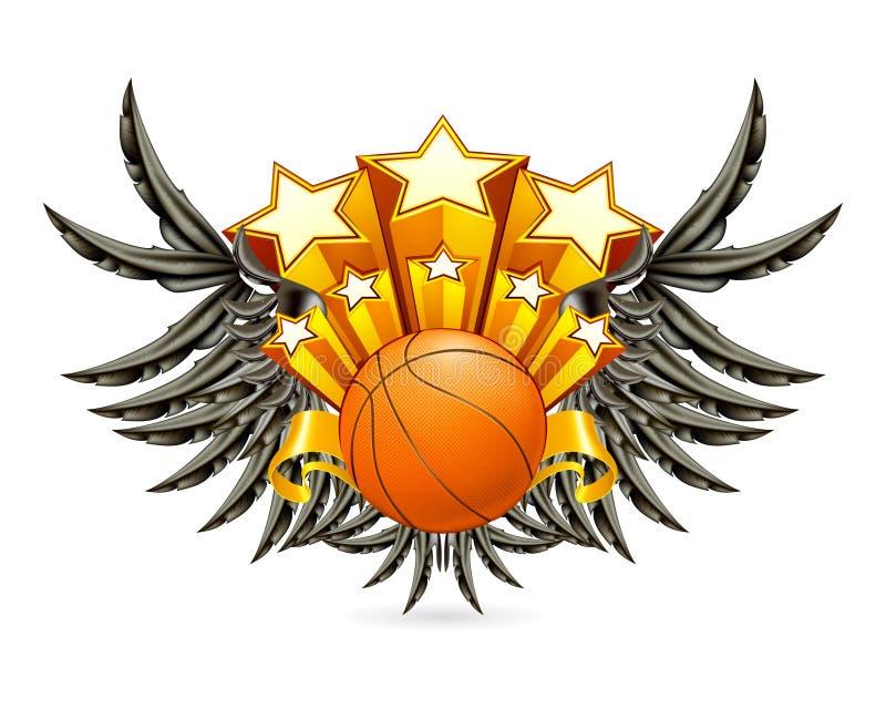 Emblème De Basket-ball Images libres de droits
