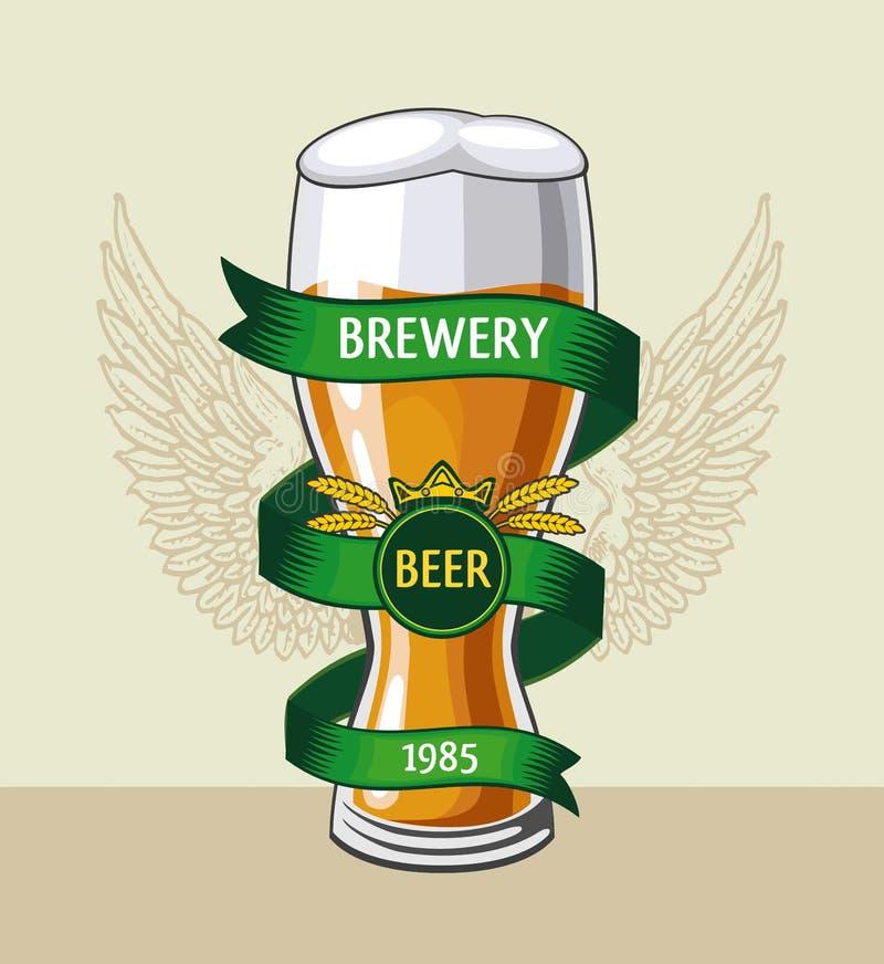 Emblème de bière Glace de bière illustration libre de droits
