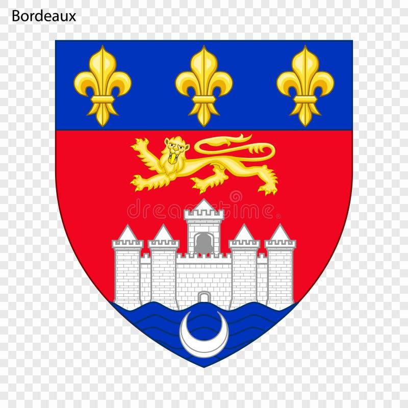 Emblème de Bordeaux illustration stock