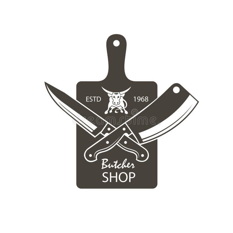 Emblème de boucherie illustration de vecteur
