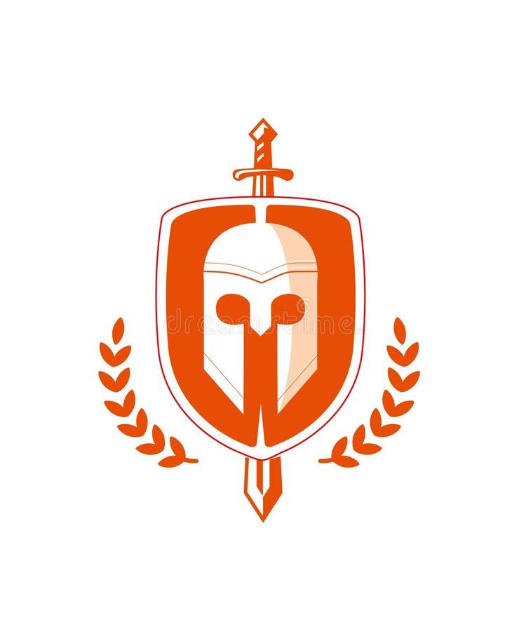 Emblème de bouclier photo stock