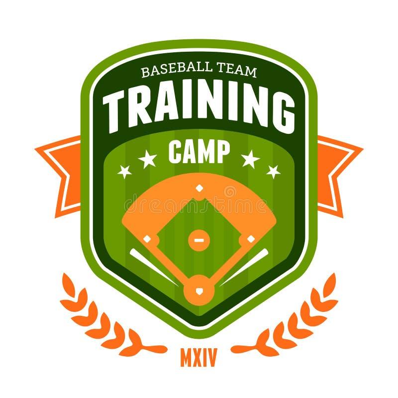 Emblème de camp d'entraînement de base-ball illustration libre de droits