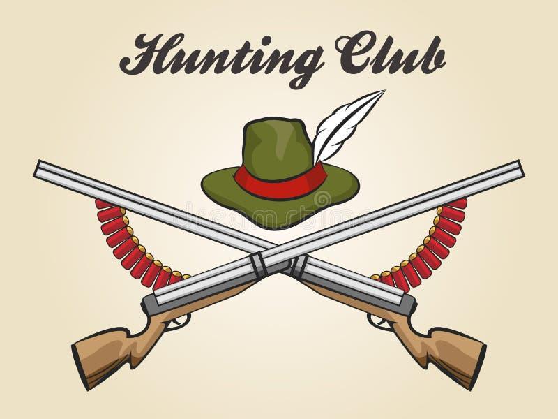 Emblème de club de chasse illustration de vecteur