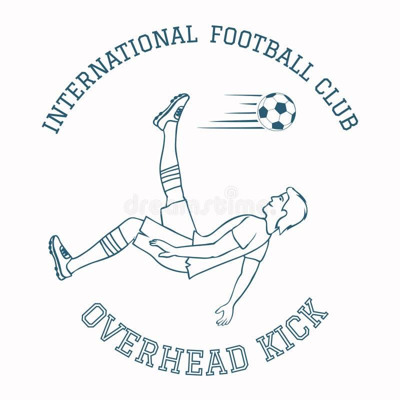 Emblème de club du football illustration stock
