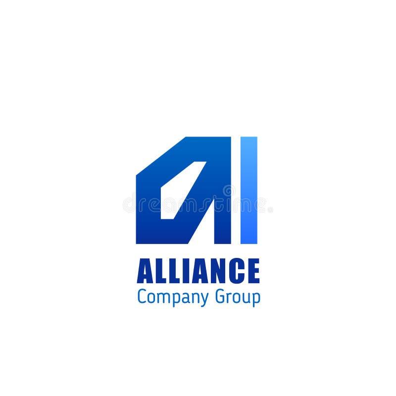 Emblème de compagnie renforcée d'Alliance illustration stock