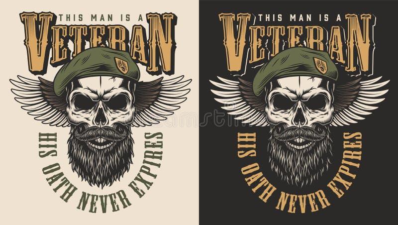Emblème de concept de vétéran illustration libre de droits