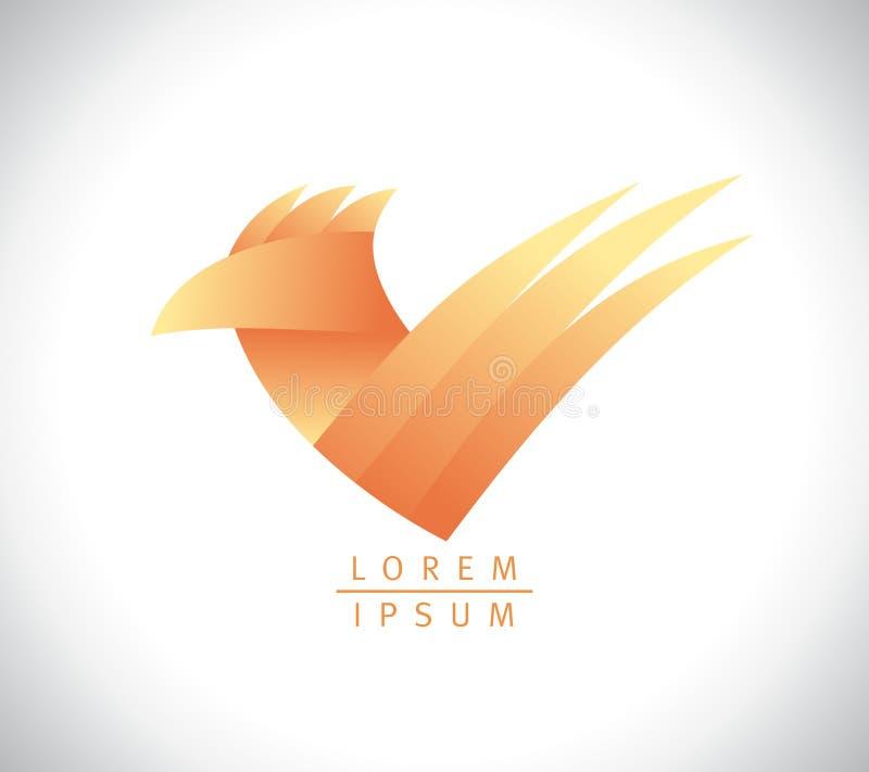 Emblème de coq ou de poulet, logo de vecteur pour la production de volaille illustration libre de droits