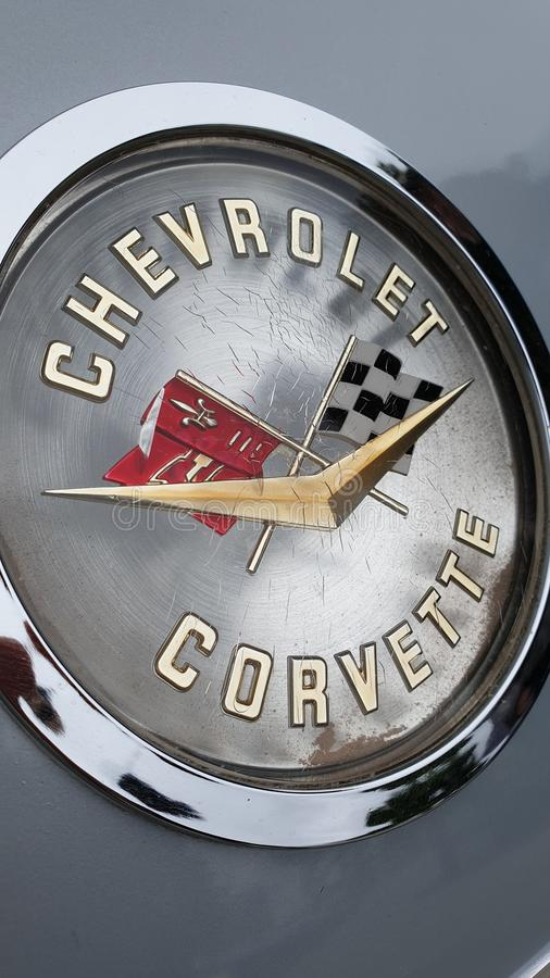 Emblème de Corvette photographie stock