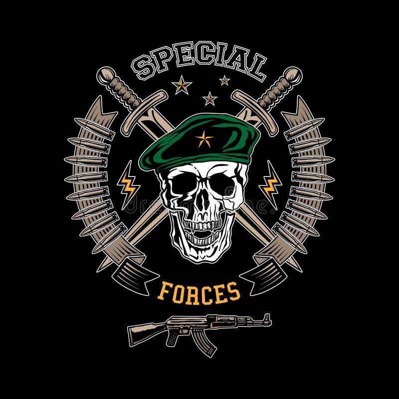 Emblème de couleur de forces spéciales illustration libre de droits