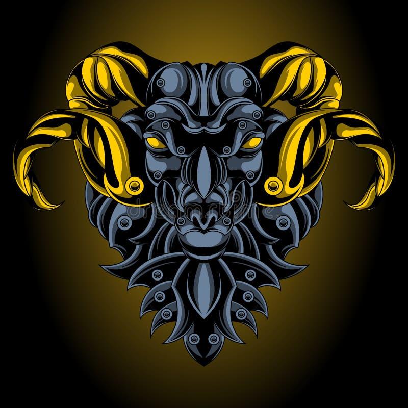 Emblème de fer de Bélier illustration libre de droits