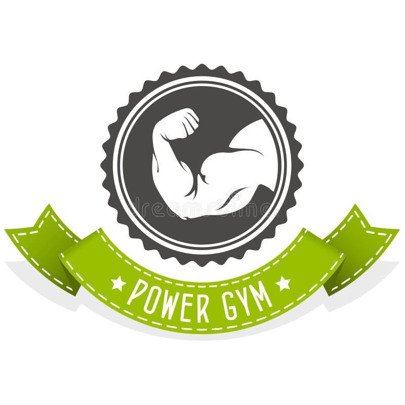 Emblème de forme physique et de bodybuilding avec le hercule illustration de vecteur