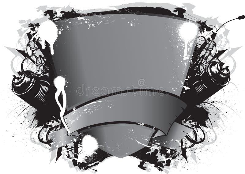 Emblème de graffiti image stock