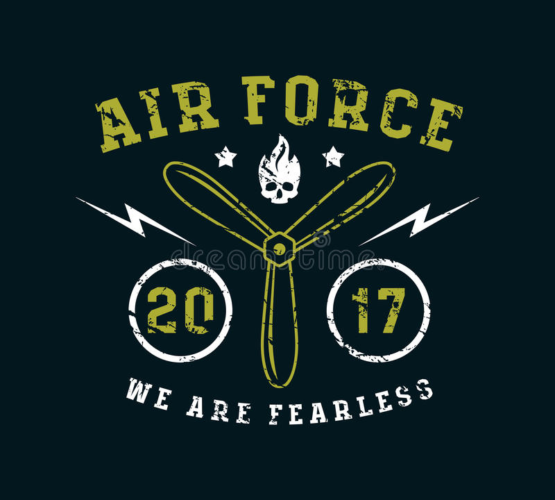 Emblème de l'Armée de l'Air dans la ligne style mince illustration de vecteur