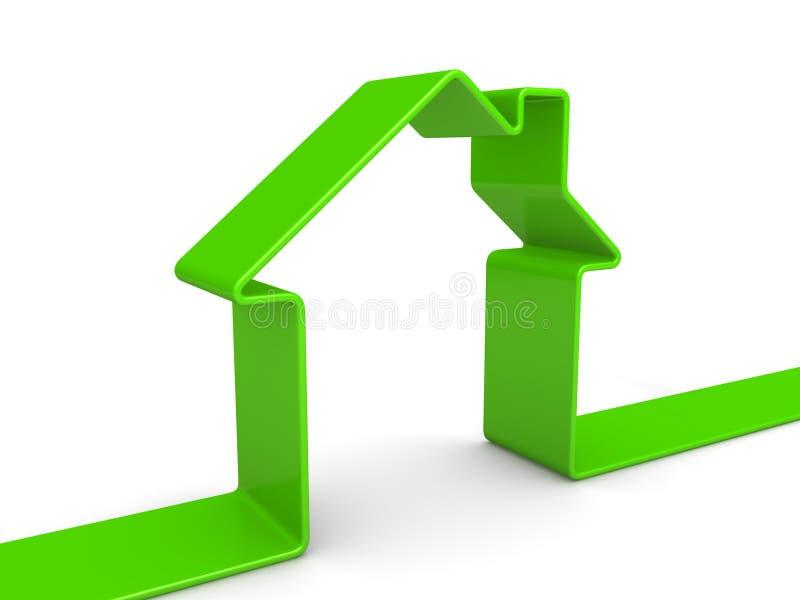 emblème de la maison 3d illustration libre de droits