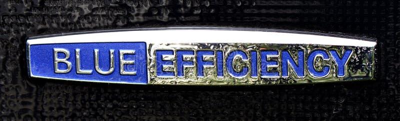 Emblème de Mercedes Benz d'efficacité bleue images libres de droits
