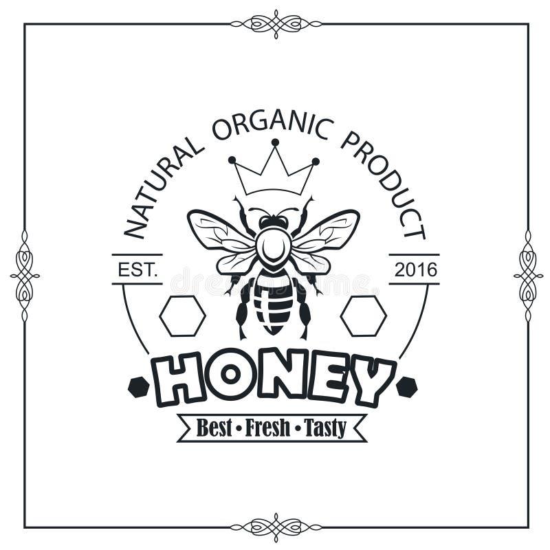 Emblème de miel d'abeille illustration libre de droits