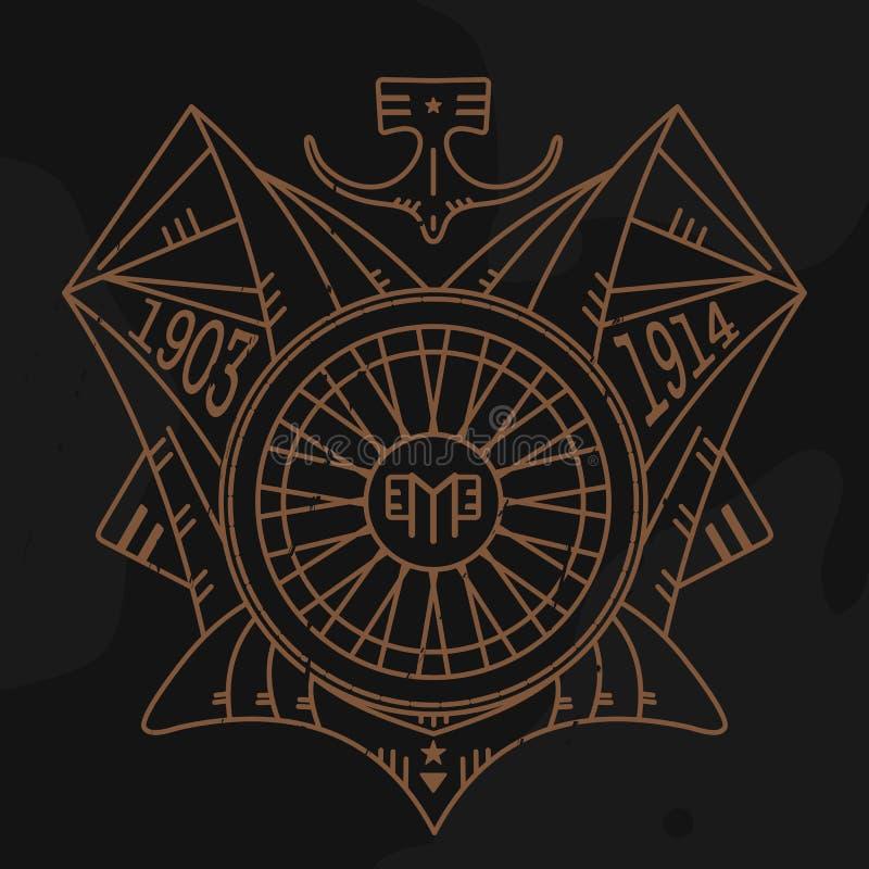 Emblème de moteur illustration libre de droits