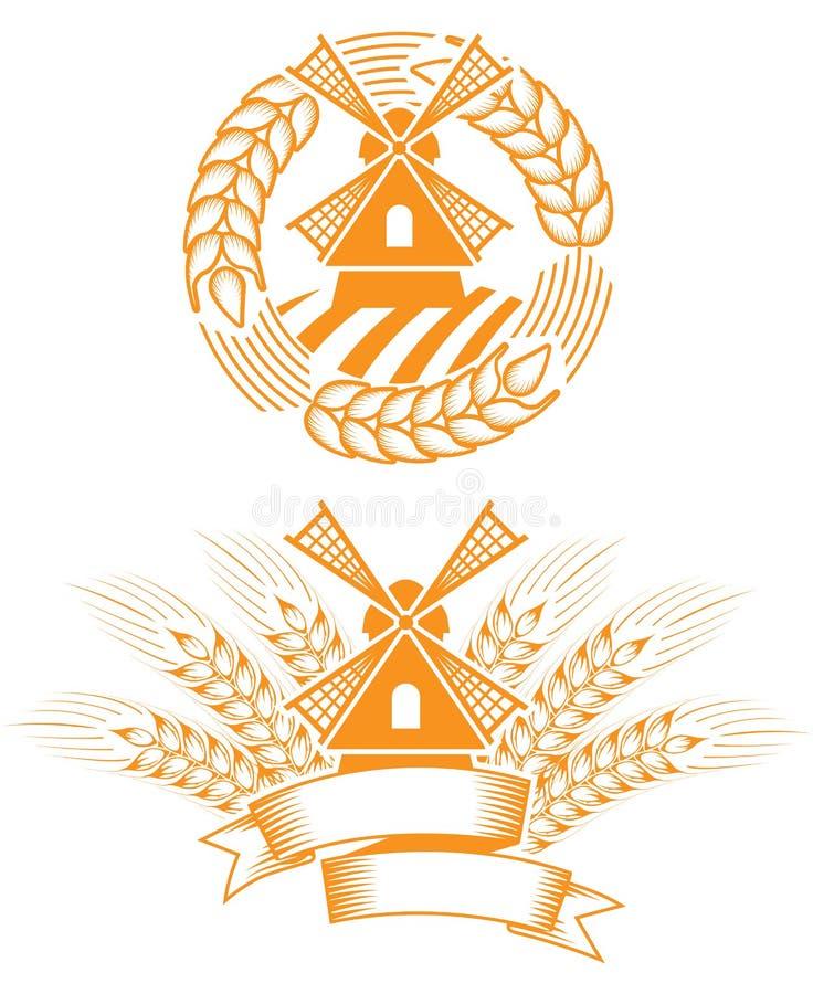 Emblème de moulin à vent
