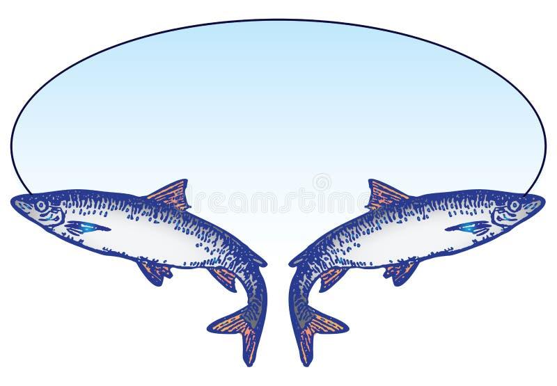 Emblème de pêche illustration stock
