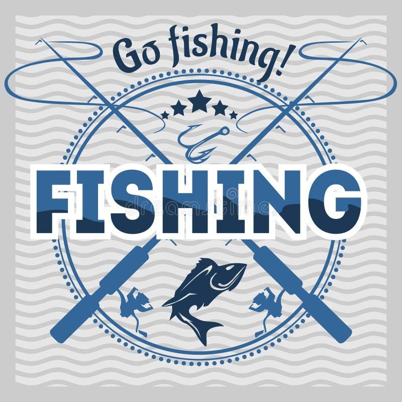 Emblème de pêche, insigne et éléments de conception illustration stock