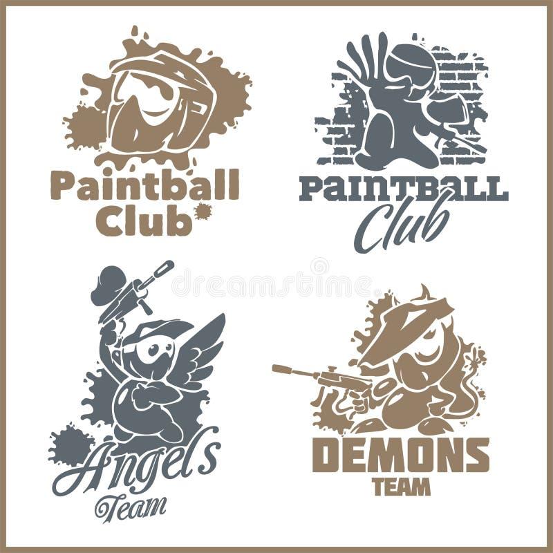 Emblème de Paintball et logo - ensemble vinyle-prêt de vecteur illustration libre de droits