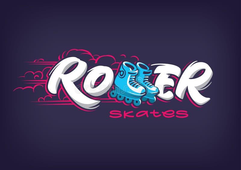 Emblème de patins de rouleau illustration stock
