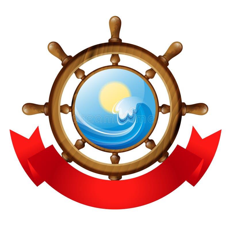 Emblème de roue illustration stock
