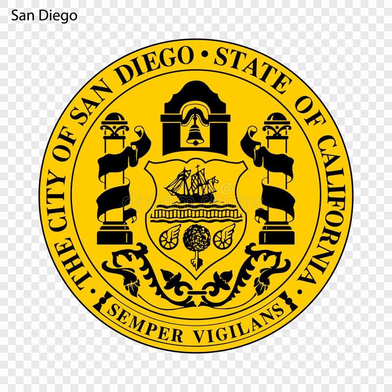 Emblème de San Diego illustration de vecteur