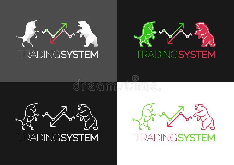 Emblème de système de commerce illustration libre de droits