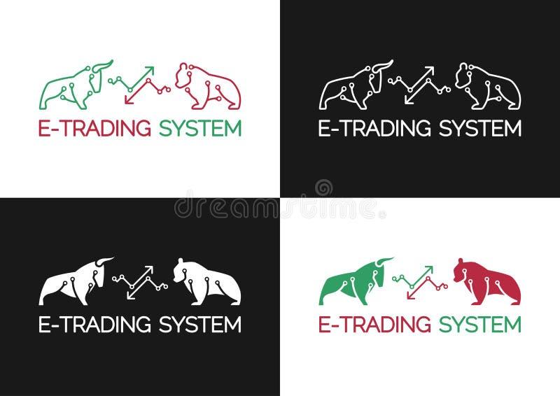 Emblème de système E-marchand illustration de vecteur