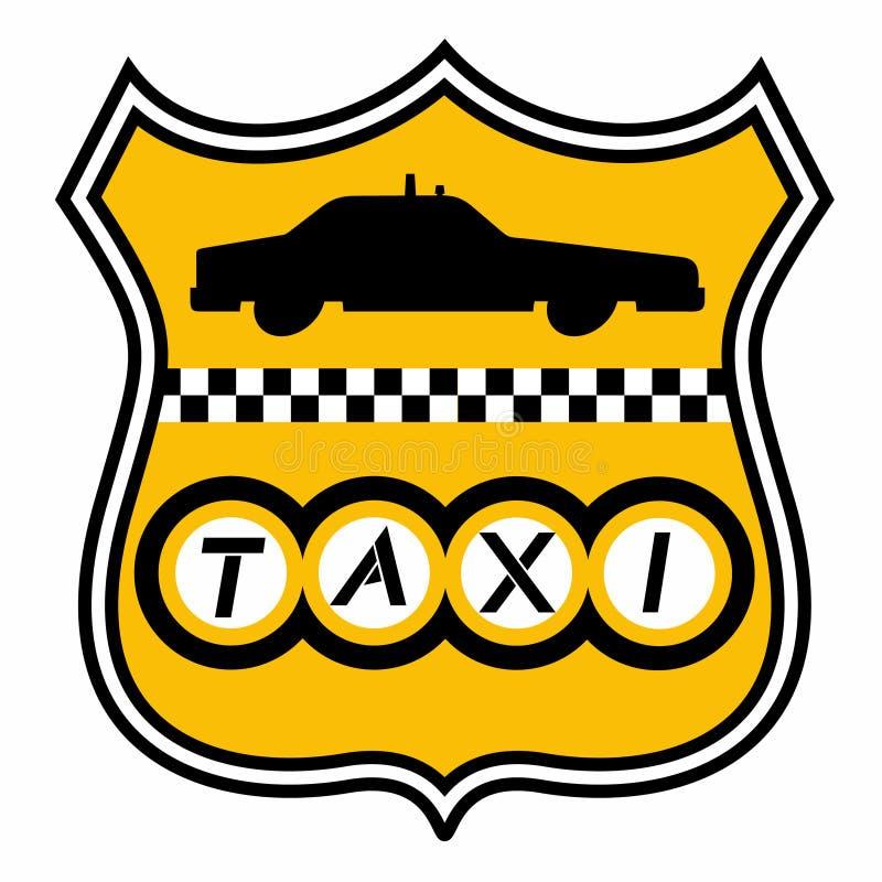 Emblème de taxi illustration de vecteur
