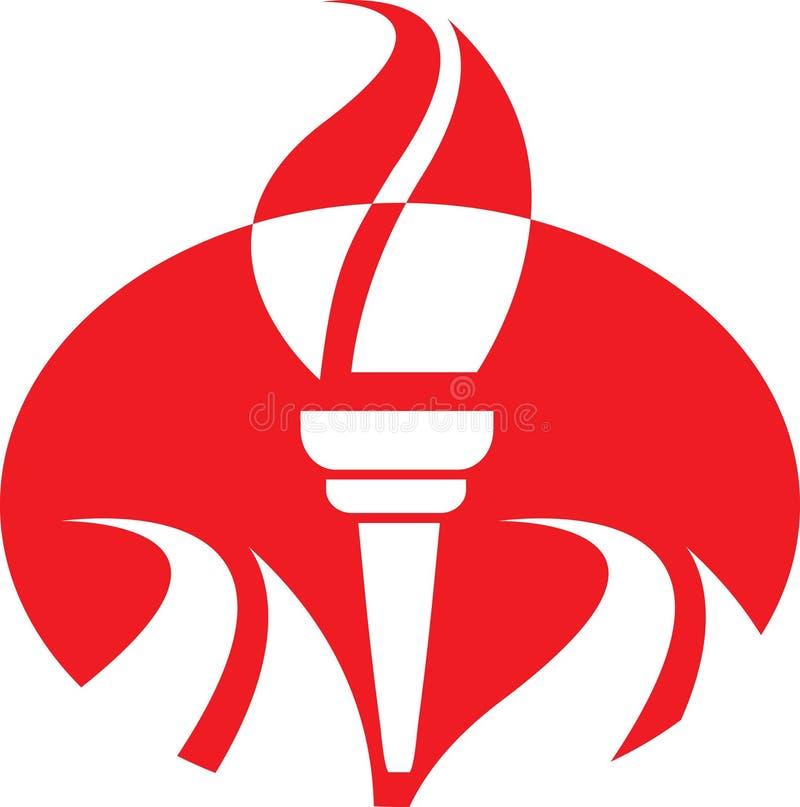 Emblème de torche illustration de vecteur