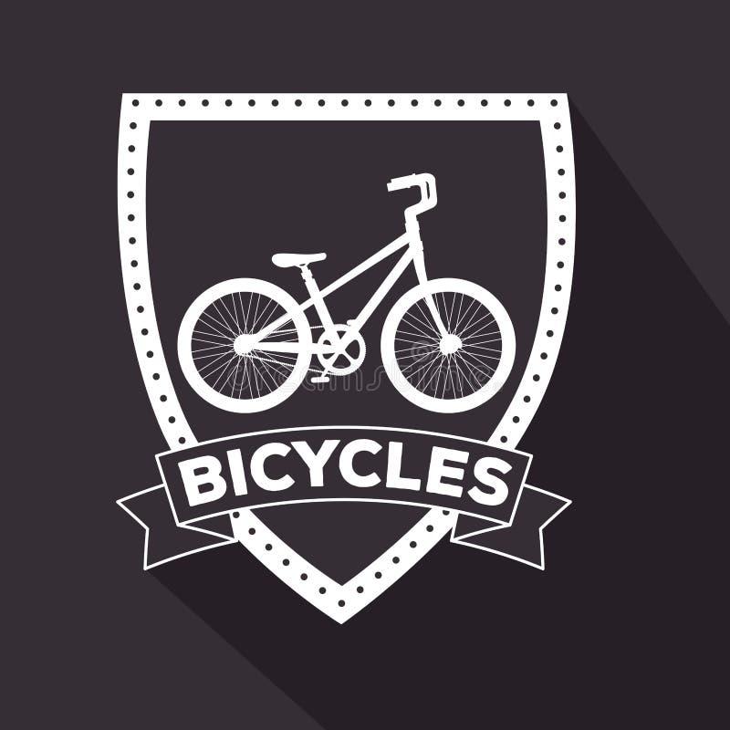 Emblème de véhicule de transport de conception de bicyclette illustration libre de droits