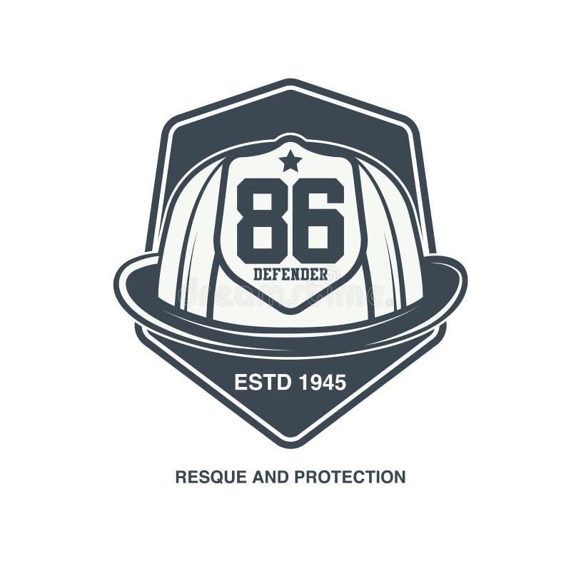 Emblème de vecteur de sapeurs-pompiers illustration de vecteur