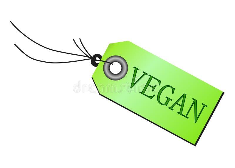 Emblème de Vegan d'isolement illustration stock