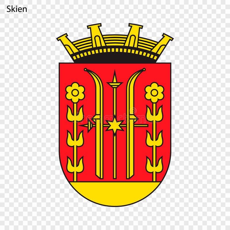 Emblème de ville de la Norvège illustration stock