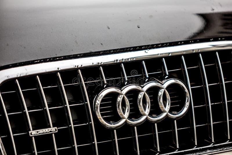 Emblème de voiture d'Audi photos stock