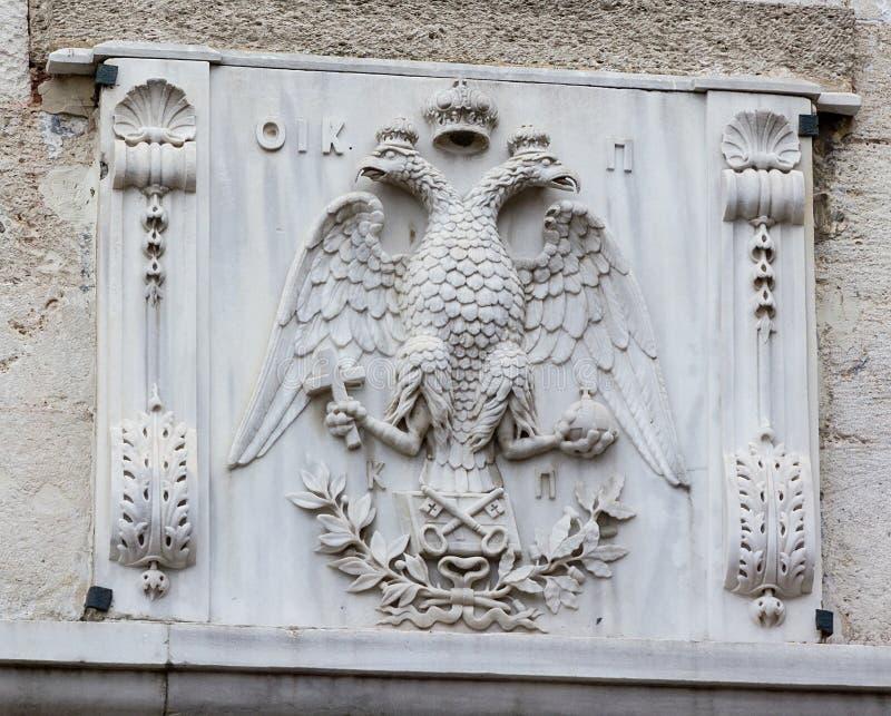 emblème Double-dirigé d'aigle photo stock