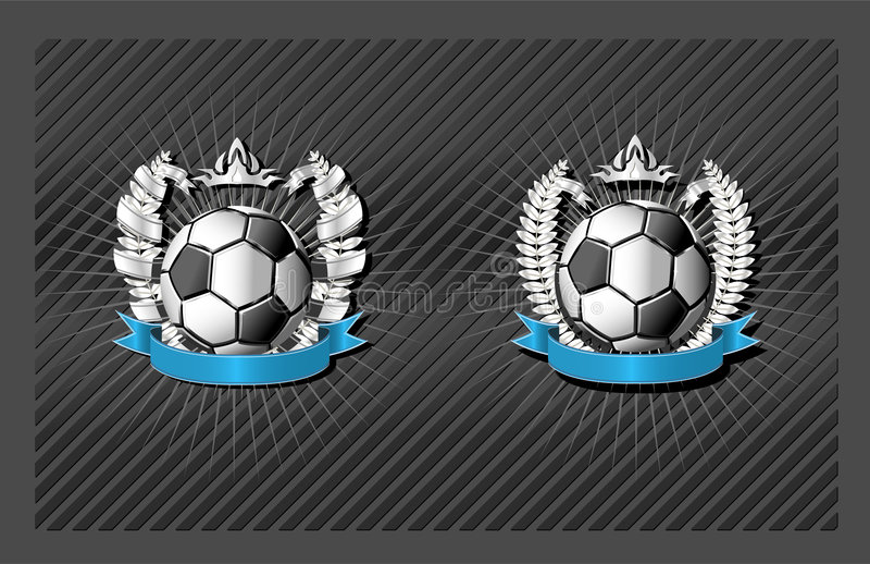 Emblème du football (le football) illustration libre de droits