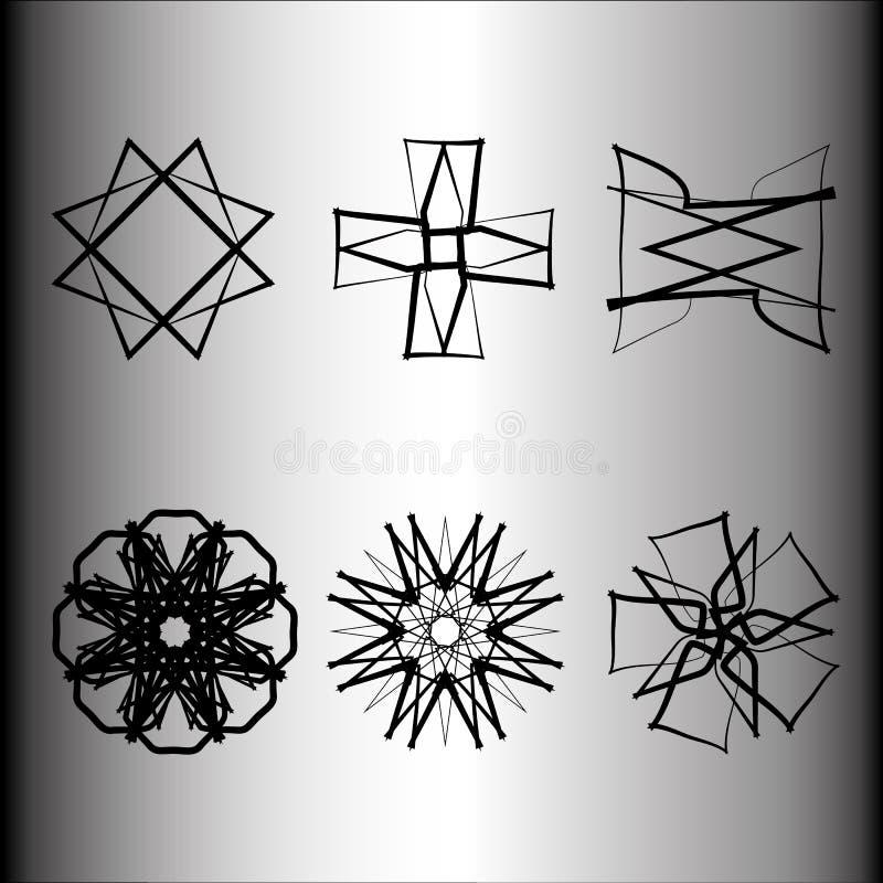 Emblème géométrique d'astrologie de pentagone étoilé d'étoile d'icône de modèle illustration de vecteur