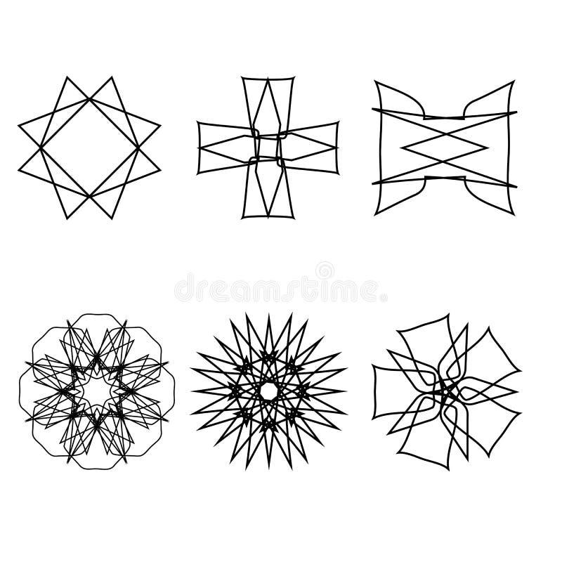 Emblème géométrique d'astrologie de pentagone étoilé d'étoile d'icône de modèle illustration libre de droits