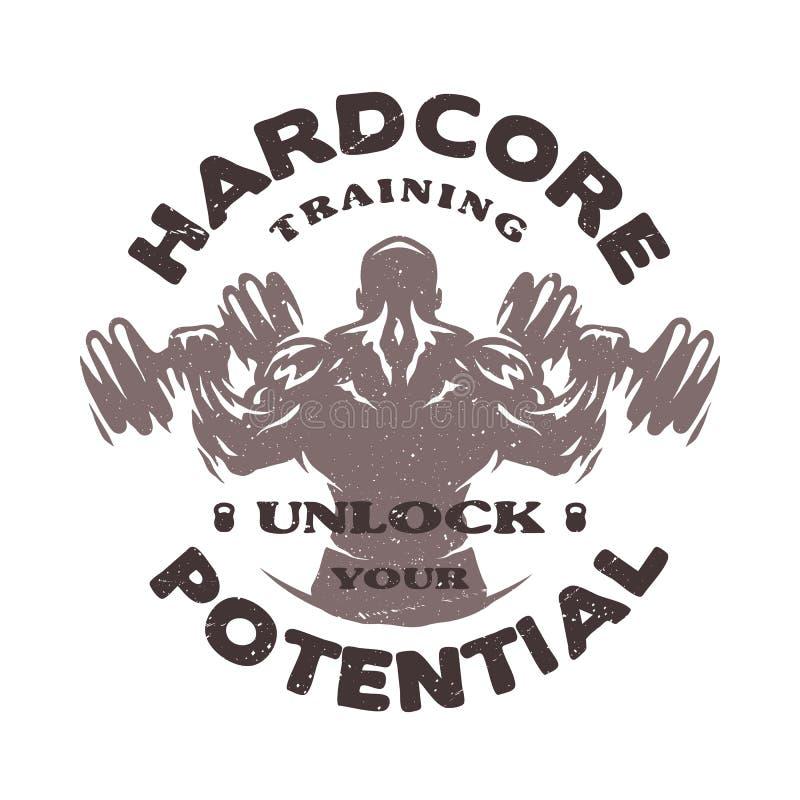 Emblème inconditionnel de formation illustration stock