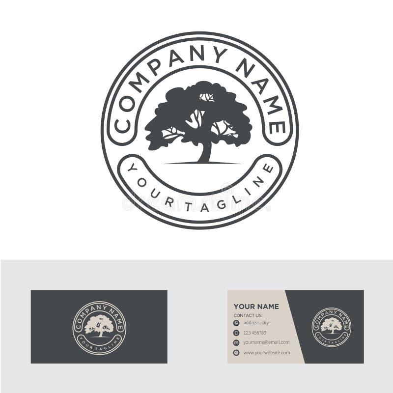 Emblème/insigne ronds pour la conception de logo de société d'agriculture illustration de vecteur illustration libre de droits